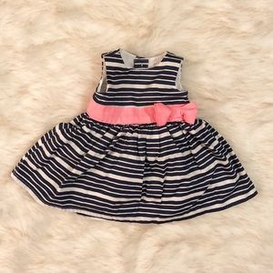 Other - Baby girl navy striped dress